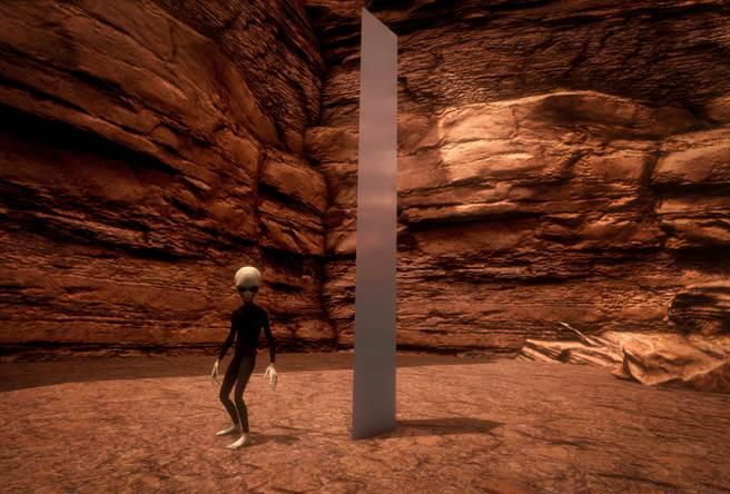 有網友到沙漠朝聖神秘金屬碑卻撲空,沒想到竟意外拍到詭異生物。(示意圖/達志影像)