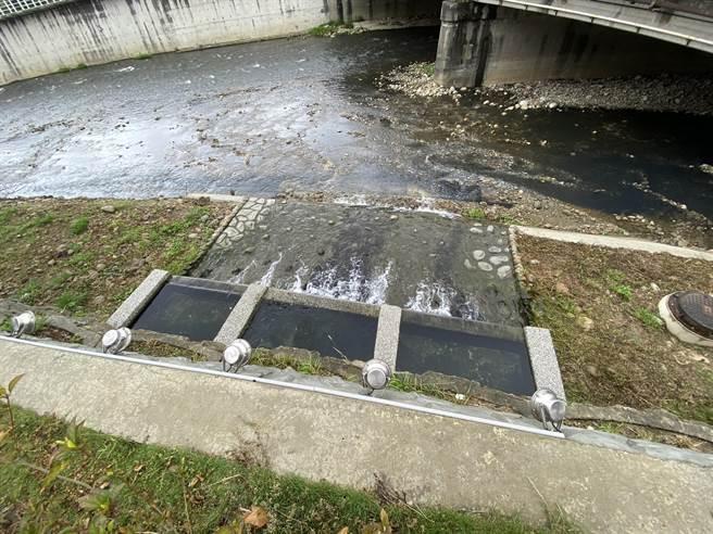南崁溪水汴頭水質淨化現地處理工程7日竣工,每日可處理3000噸汙水,汙染削減率達75%。(蔡依珍攝)