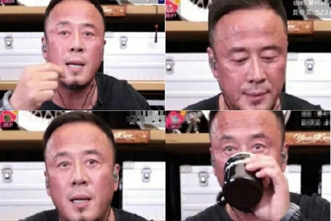 杨坤满脸通红直播带货,被质疑是不是酒喝太多 (图/ 微博)