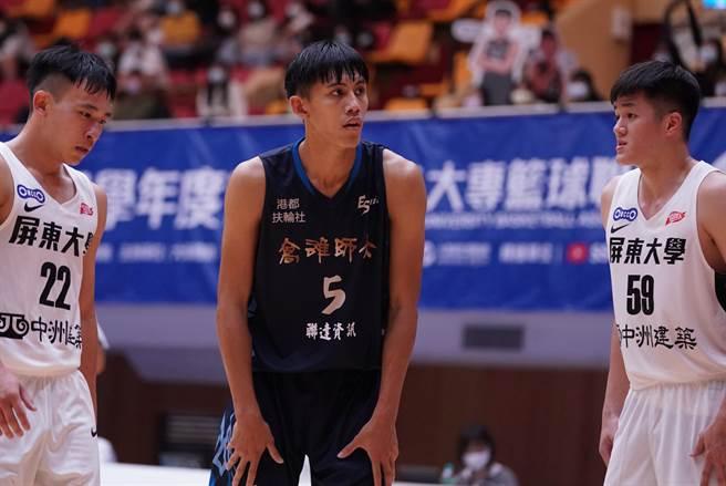 高雄師大劉本善(中)攻下全隊最高19分,另抓下8籃板。(大專體總提供)