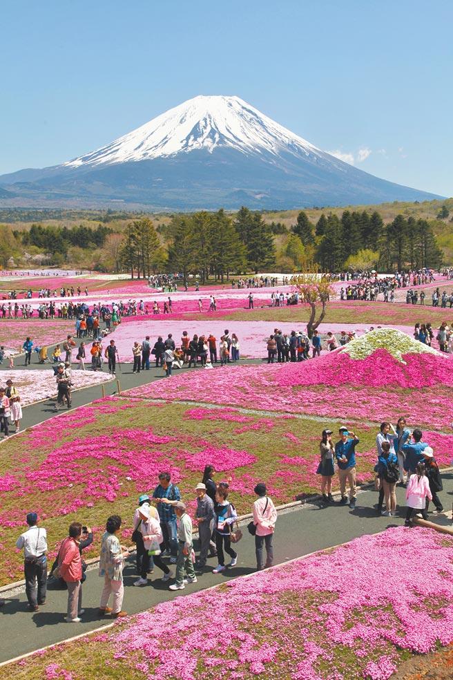 日本媒體報導,為驗證東奧防疫措施的有效性,日本政府考慮明年春季開放亞洲疫情相對穩定地區的小型旅行團,包括台灣和大陸,圖為富士山及其周邊景點。(新華社)