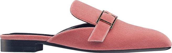 愛馬仕Beauty系列天鵝絨穆勒鞋,2萬7000元。(HERMES提供)