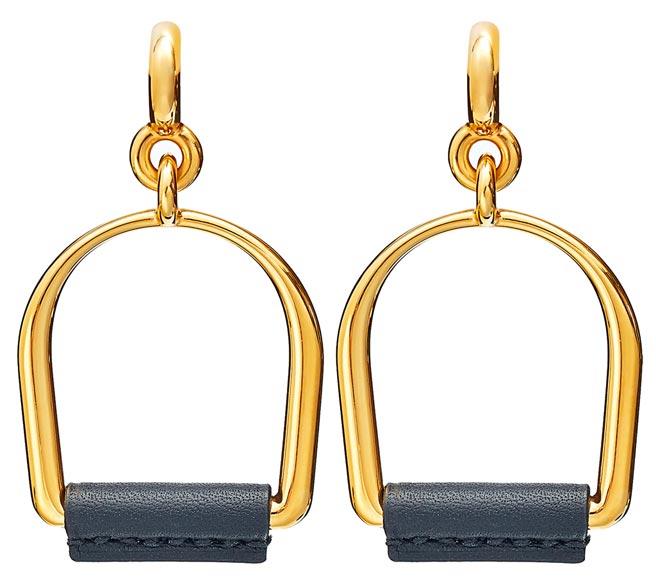 愛馬仕Heritage Equestre系列耳環,2萬4800元。(HERMES提供)