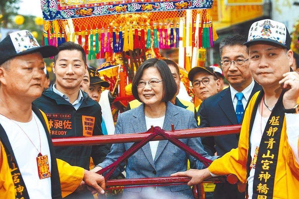總統蔡英文參加青山祭活動。(圖/本報資料照,鄧博仁攝)