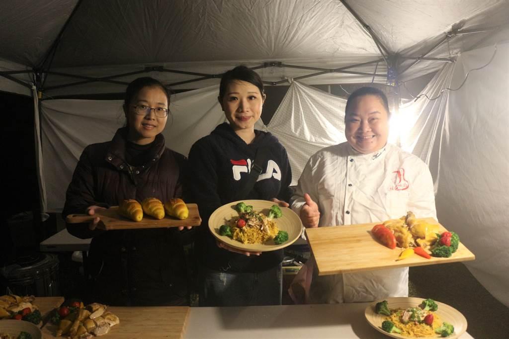 苗栗縣青年店家藉由「好好食飯」平台,端出在地特色料理,好看又好吃。(巫靜婷攝)