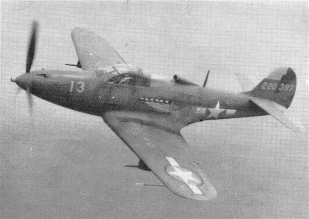 葉格的第1個戰機座駕:P-39空中眼鏡蛇戰機。(圖/美國國會圖書館)