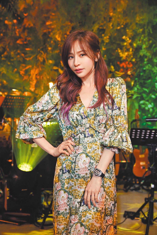 王心凌前晚舉行TME Live超現場「私.心」線上音樂會。(環球音樂提供)