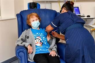 影》全球第一人 英90歲阿嬤接種輝瑞新冠疫苗