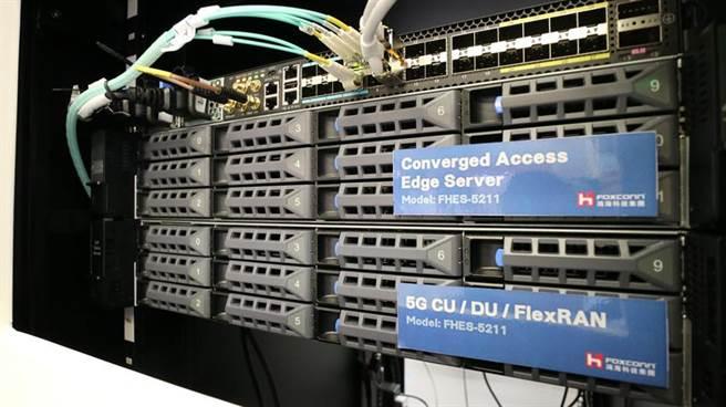 (鴻海首次參展IEEE GLOBECOM,大秀5G軟硬體深厚實力。圖/鴻海提供)