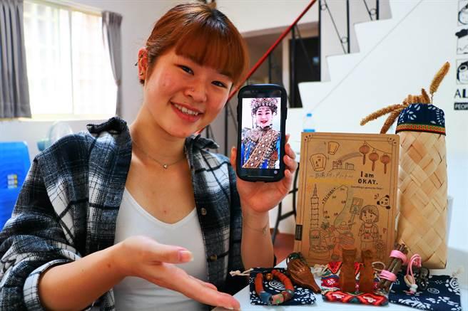 今年3月到文化大學當交換生的20歲日本妹富永未菜,因環島與「追愛」而戀上屏東排灣族文化到無法自拔。(謝佳潾攝)