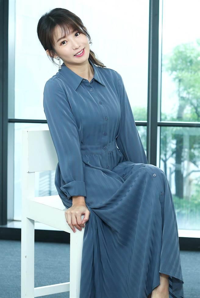 郭书瑶为宣传新戏《未来妈妈》接受专访。(粘耿豪摄)