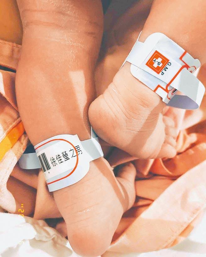 徐佳瑩6日產下第一胎男寶寶。(摘自IG)