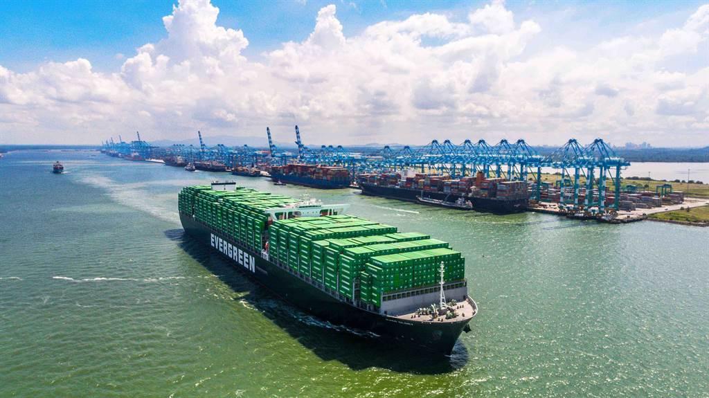 長榮海運業績暢旺,股價連漲。(業者提供資料照片)