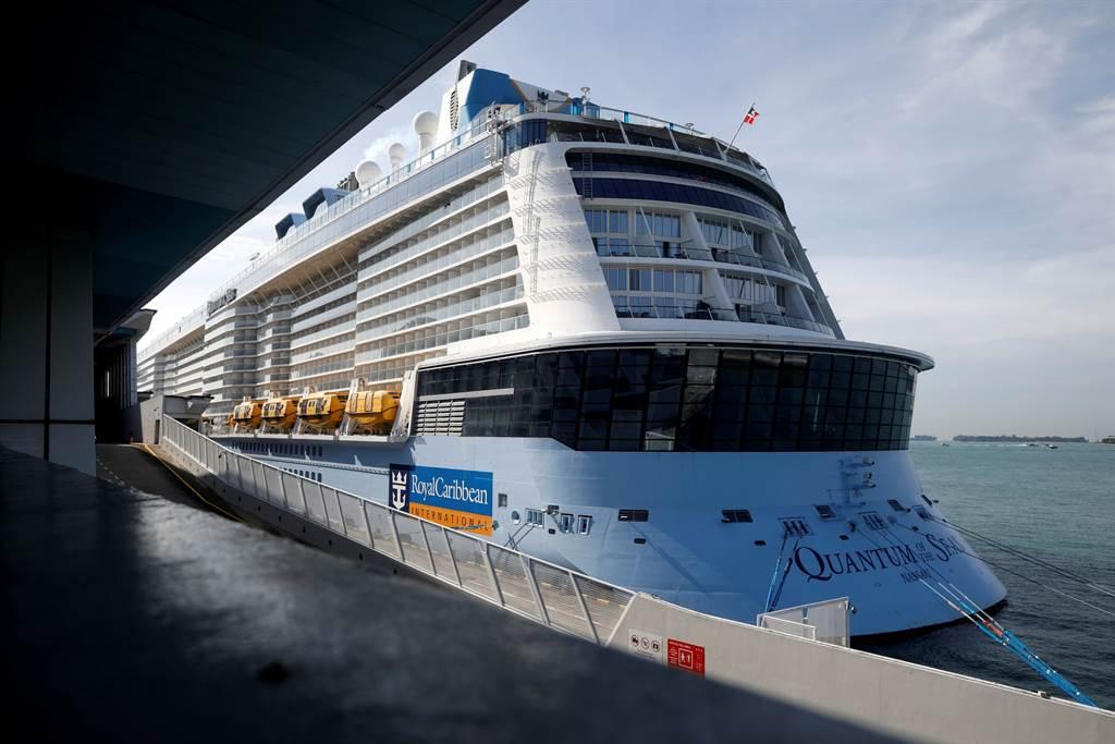 海洋量子號乘客確診新冠肺炎 郵輪急返新加坡。(圖/路透)