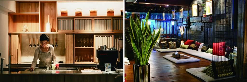 李瑜認為,台北的魅力在於短短的距離之內,就有多樣的放鬆場域,從小酒館到SPA 按摩,構築出悠閒的生活。(右圖/Villa.like 悅禾莊園Spa提供)
