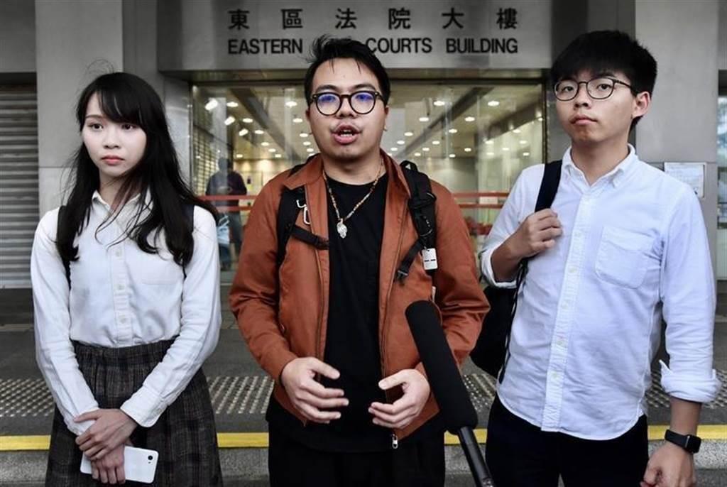 周庭(左起)、林朗彥、黃之鋒。(資料照/香港中通社)