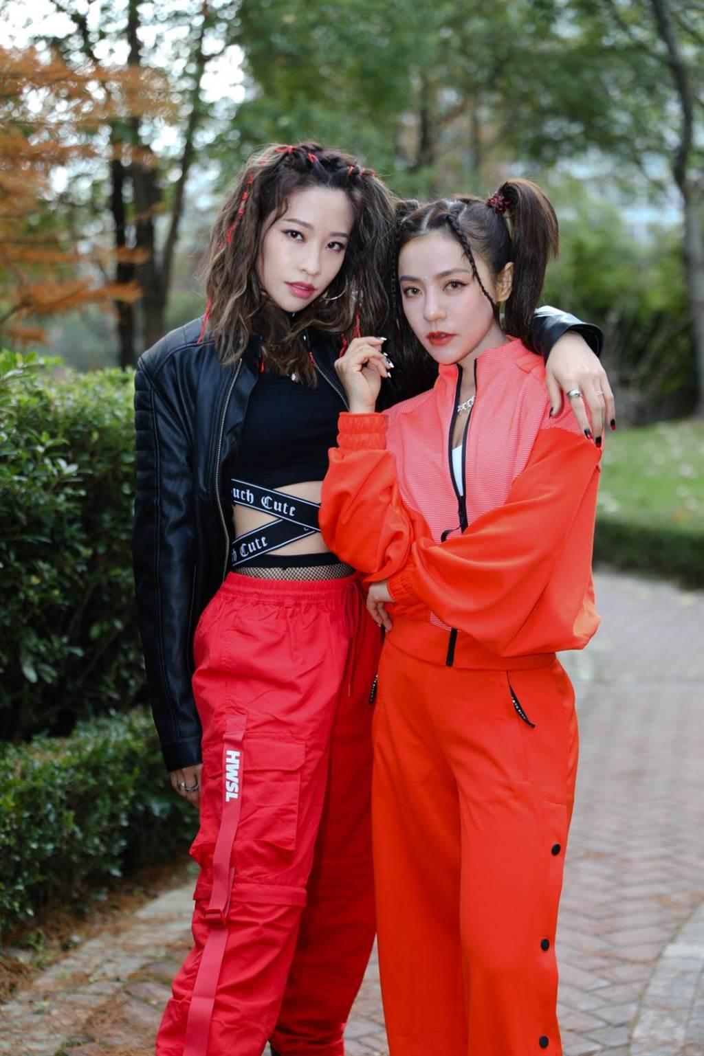 丁噹和袁詠琳「噹辛一點」合體,9日接受媒體視訊訪問。(相信音樂提供)