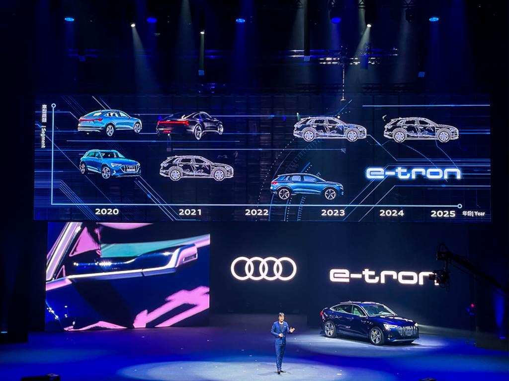 除今年上市的e-tron/e-tron Sportback外,Audi預計在2025年將陸續導入包含e-tron GT在內的5款電動車。