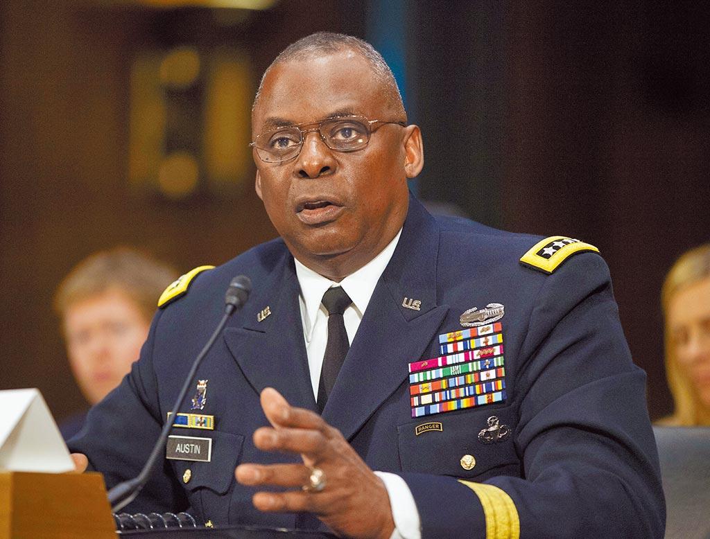 美媒7日紛紛報導,美國總統當選人拜登將提名退役陸軍四星上將奧斯汀(Lloyd Austin)出任國防部長,一旦獲得參議院批准,美國將出現史上首位非裔防長。(美聯社)