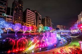 美浪漫台中耶誕水舞燈光秀  光影樂齊發搶先曝光