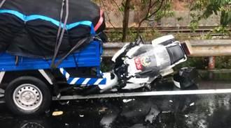 南投交通隊重機訓練車禍 雨天路滑撞貨車小隊長送醫不治