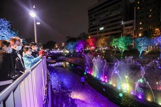 9999朵彩結大聖誕樹、絕美水舞燈光秀 盧秀燕邀民眾感受節慶氛圍