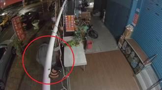 人行道上脫褲「站著大號」店家曝監視器看傻:不到30秒