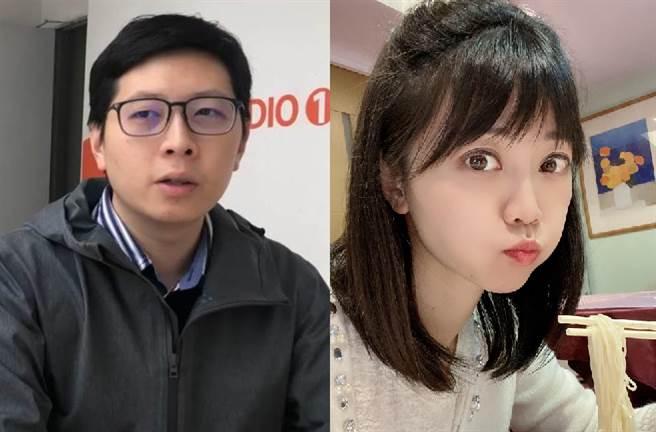 台北市議員羅智強挺高嘉瑜(右),王浩宇(左)不滿狂酸:真的是民進黨的最後良心、真的是唱歌好好聽。(合成圖/翻攝資料照、高嘉瑜臉書)