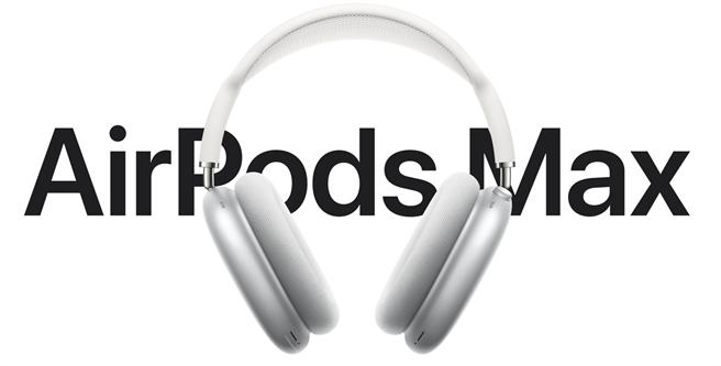 蘋果AirPods Max頭戴式無線耳機正式發表。(摘自蘋果官網)