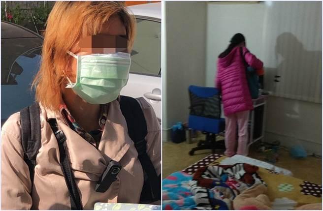 林女(左)供稱囚女12年的原因,與自己悲慘遭遇有關。遭親母囚禁12年的謝女(右),如今已23歲,但身材瘦削,體重僅30公斤出頭。(張達智翻攝/民眾提供)