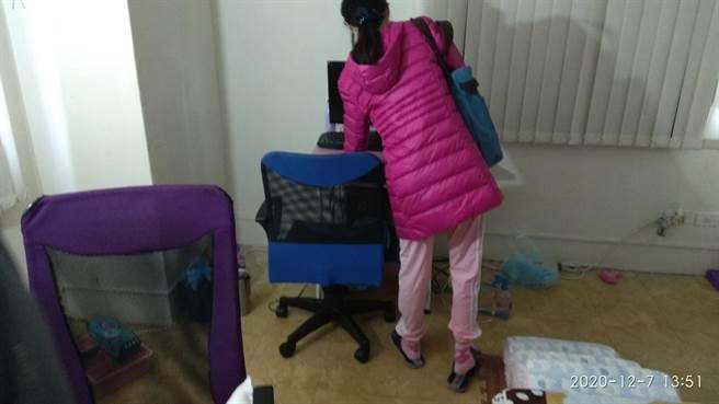 23歲女被生母隔離12年,自我封閉、語言表達能力較差。(田中警分局提供/吳敏菁彰化傳真)