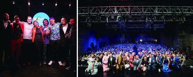 左:「二三喜剧」每周提供英语段子的演出,让身在台北的外国人也能在此找到欢乐泉源。(图/二三喜剧)右:「卡米地喜剧俱乐部」作为台北单口喜剧空间的先驱,集结眾多喜剧人才,将此种表演艺术的魅力全面扩散。(图/卡米地喜剧俱乐部提供)