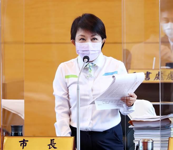 市長盧秀燕強調,市府不同意台電不汰舊換新、不同意只增不減,一定為台中市民的健康把關。(陳世宗攝)