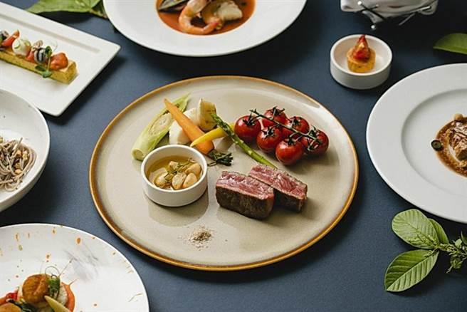 慕軒飯店GUSTOSO義大利餐廳自即日起至12月23日止,每週一至週六提供「極致和牛饗宴」晚間套餐。圖/慕軒飯店