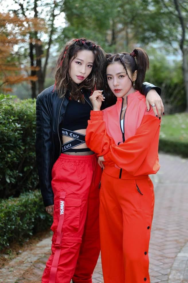 丁噹和袁咏琳「噹辛一点」合体,9日接受媒体视讯访问。(相信音乐提供)