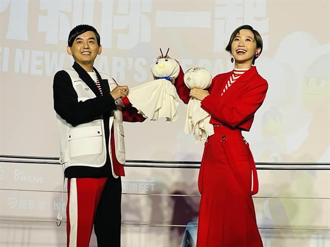 台北跨年卡司曝光 黃子佼、LULU再接主持棒。(吳康瑋攝)