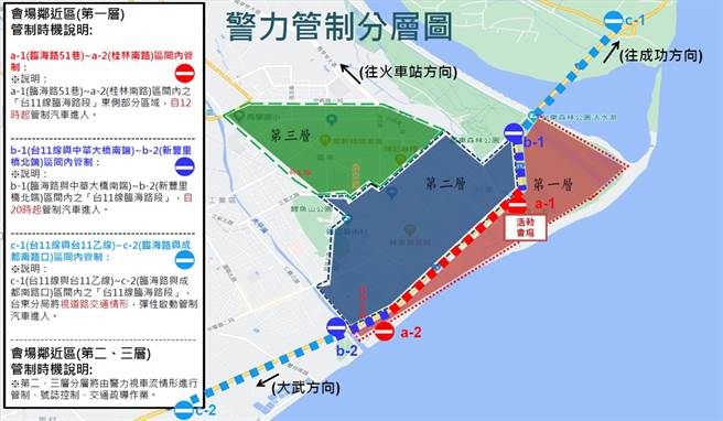 附圖3 分階段交通管制圖。(交通部提供)