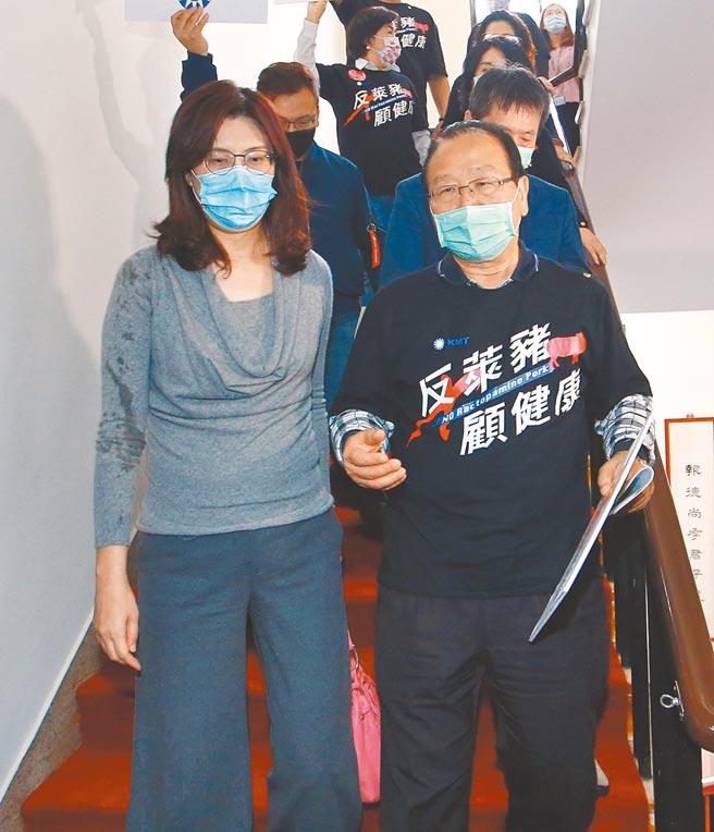 國民黨立委鄭麗文(左)爆料,2017年未任黨公職的蘇貞昌出席屏東同鄉會活動時,曾痛罵蔡總統半小時。(陳信翰攝)