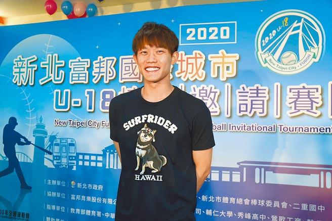 旅日投手陳冠宇暢談與前輩陳偉殷同隊的心得。(大會提供)