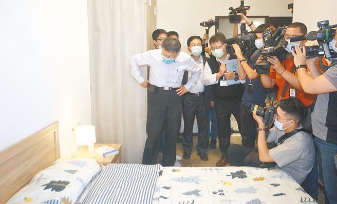 台北市明倫社宅上月底招租,將在9日下午5時截止,爭議不斷的44坪3房型,因每月租金高達4萬500元引發批評聲浪。(張鎧乙攝)