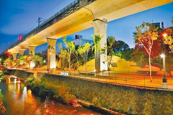 綠川「民權路至復興路段河段」已完成整治,是一處相對具有復古的場域。(台中市水利局提供/陳淑娥台中傳真)