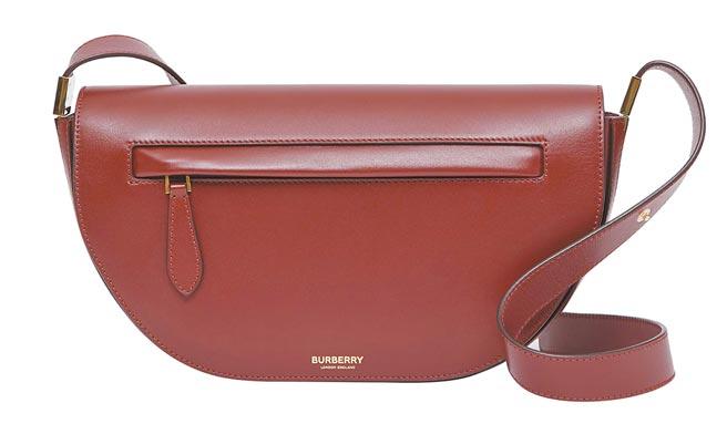 Burberry小型皮革Olympia紅色包,6萬5000元。(Burberry提供)