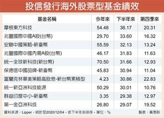 大中華、科技股基金 明年績效續唱旺