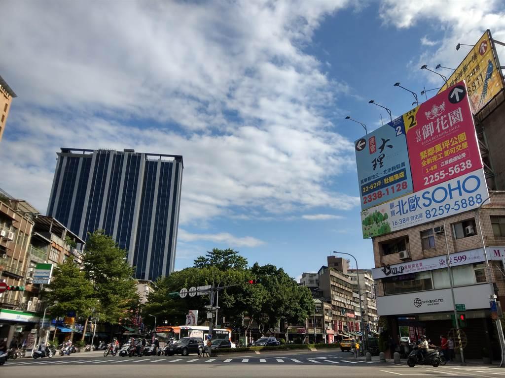大台北都更案量飆至新高,多數案量仍集中在台北市,高達約1,436億元,且12個行政區都有都更案。(葉思含攝)