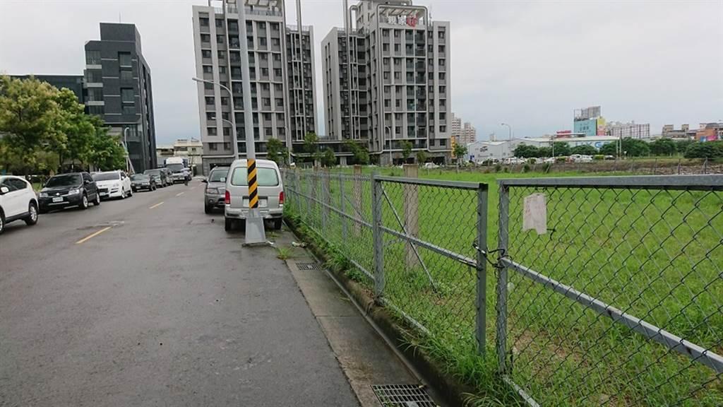 台中標售表現夯,圖為鑫港尾段84地號市有土地設定地上權案件。(財政局提供)