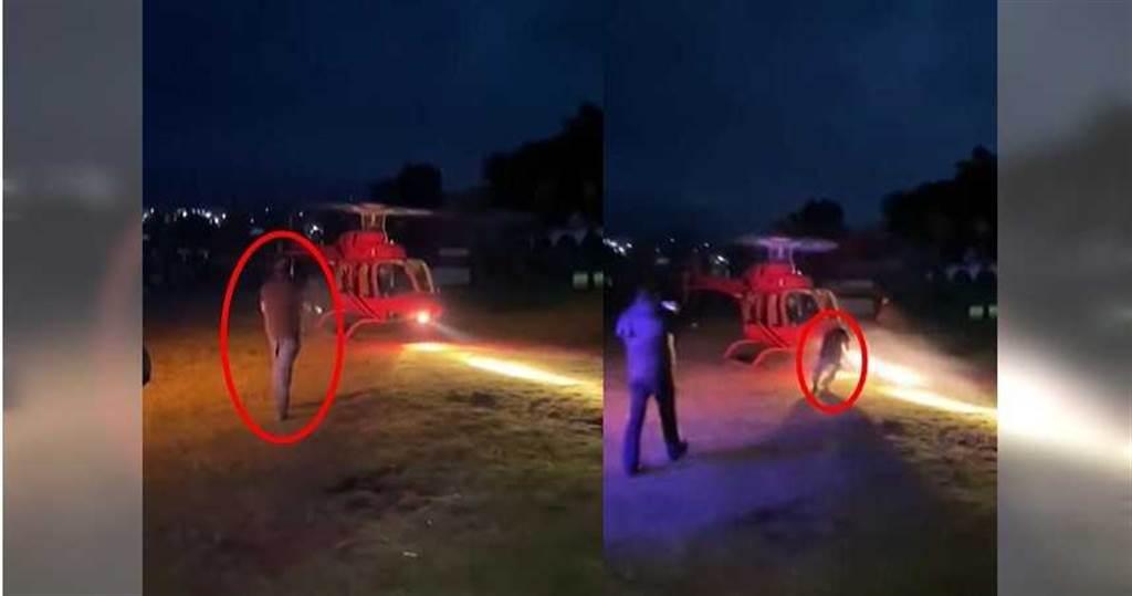 富商開心迎接直升機 下秒遭削爆頭腦漿外露(圖片截自影片)
