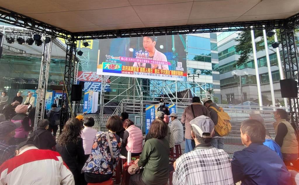 中天新聞台明(11日)關台,主播輪番上陣不斷電直播。 (照片/游定剛 拍攝)