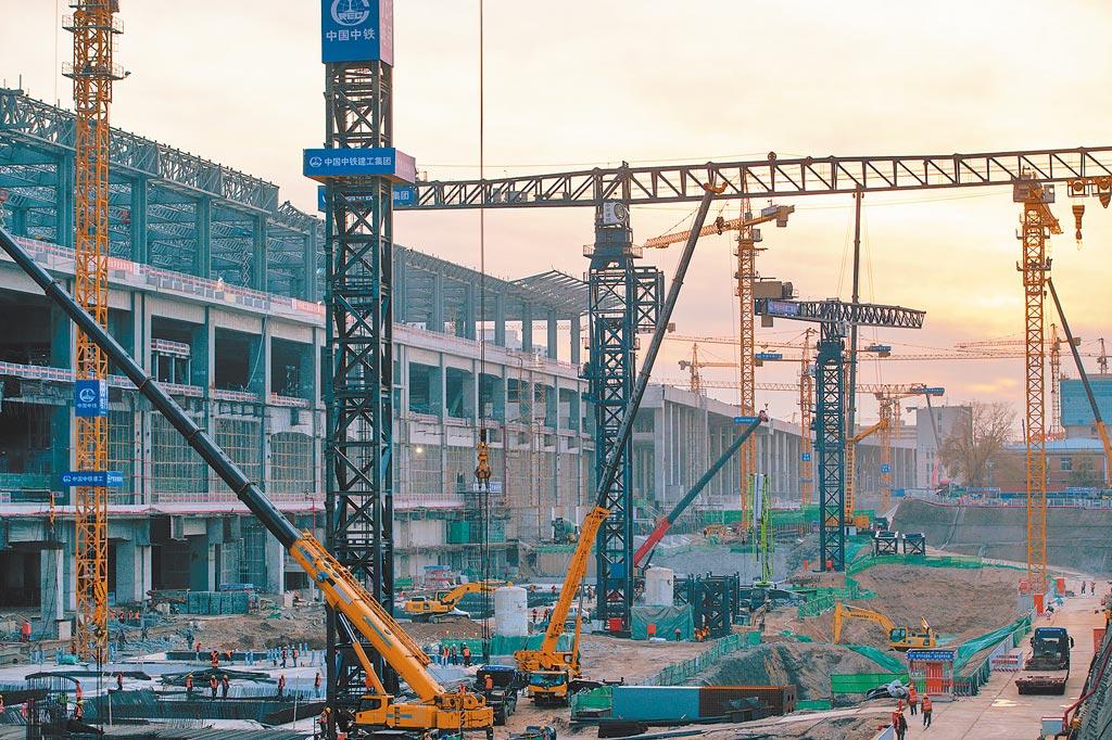北京豐台站改建工程。(中新社資料照片)
