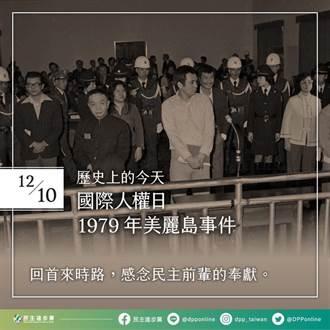 國際人權日 民進黨:持續守護得來不易的民主