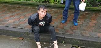 落網畫面曝光 毒梟逃亡21小時 「人妻」女友上銬狼狽坐路邊
